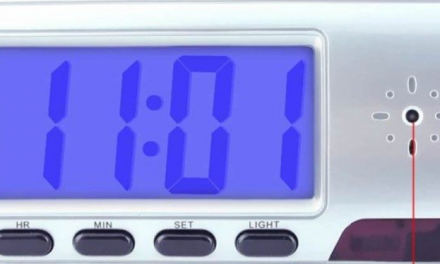 Spy Camera Clock Instructions