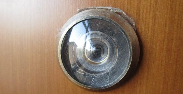 Top Motion Activated Door Peephole Camera