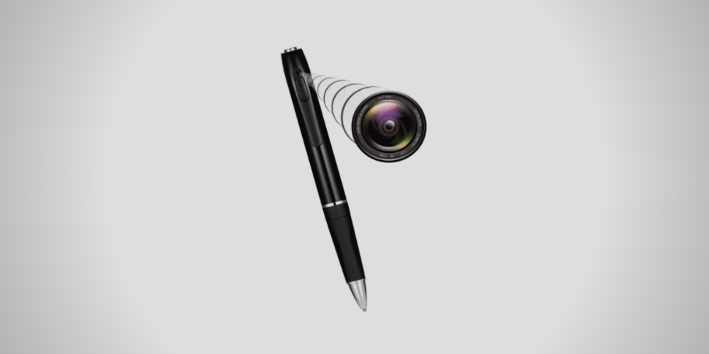 a spy pen zooming in the camera
