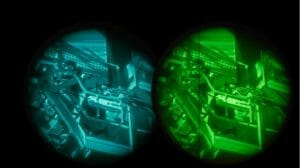 night vision google with adjustable amount of exposure
