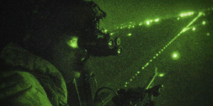 night vision goggles used by military man