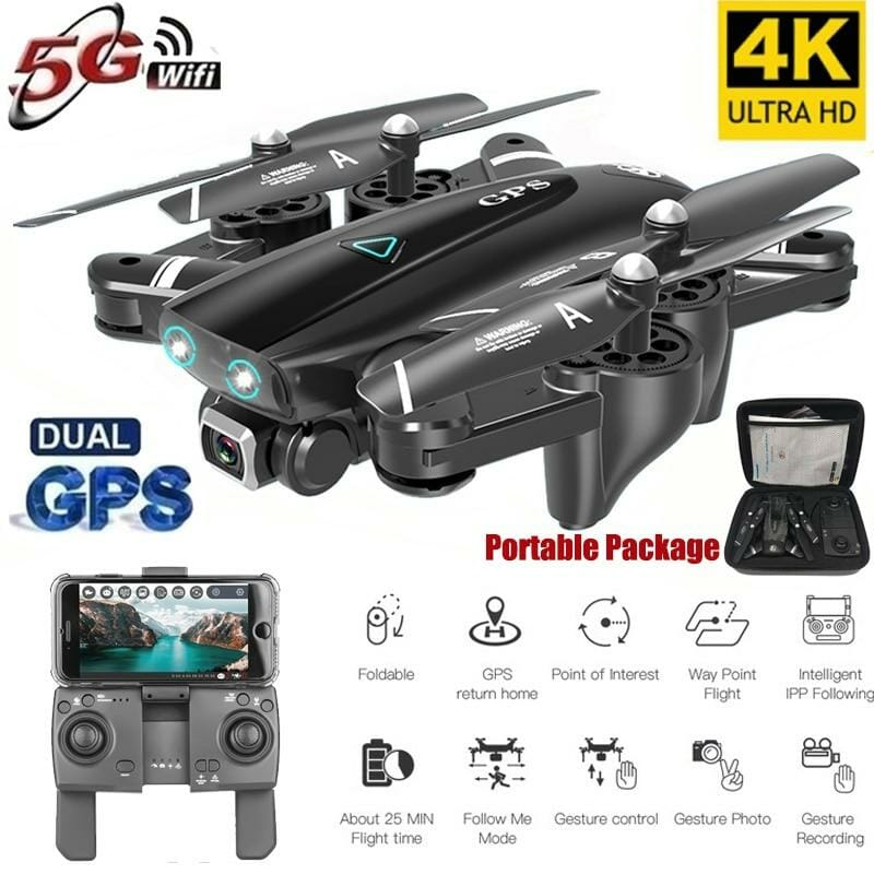 GPS Drone With Camera 5G RC Quadcopter 4K WIFI FPV Foldable